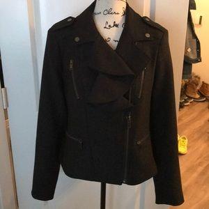 Feminine Black Sparkle Motorcycle Jacket